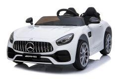 Mercedes AMG GT de 12V eléctrico con Licencia Biplaza Blanco