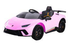 12V Lamborghini Huracan Rosa con Licencia Eléctrico para niños