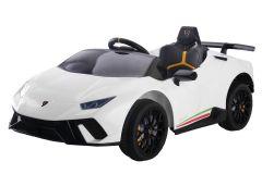 12V Lamborghini Huracan Blanco con Licencia Eléctrico para niños