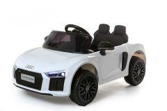 12V Audi R8 Spyder Con Licencia Blanco