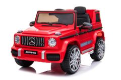 RE-ACONDICIONADOS - 12V Mercedes G63 Rojo con Licencia eléctrico para niños