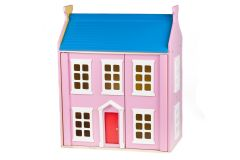 Casa Rosa de Madera Incluye Muebles