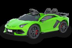 12V Lamborghini Verde con Licencia Biplaza Coche eléctrico para niños