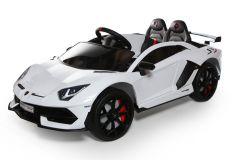 12V Lamborghini Blanco con Licencia Biplaza Coche eléctrico para niños
