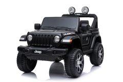 Jeep Rubicon de 12V Eléctrico con Licencia de 2 plazas Negro