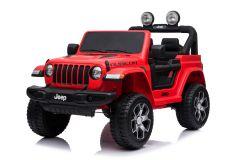 Jeep Rubicon de 12V Eléctrico con Licencia de 2 plazas Rojo