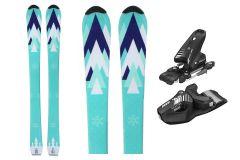 Tigris Júnior esquís unisex y tyrolia 120cm con fijaciones