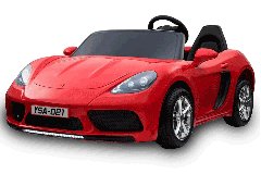 24V Supercoche Rojo Biplaza Eléctrico para niños