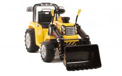 RE-ACONDICIONADOS - Tractor Amarillo dos velocidades con Remoto control - 12V