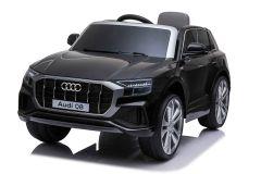 12V Audi Q8 Negro con Licencia Eléctrico para niños