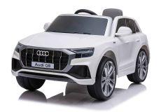 12V Audi Q8 Blanco con Licencia Eléctrico para niños